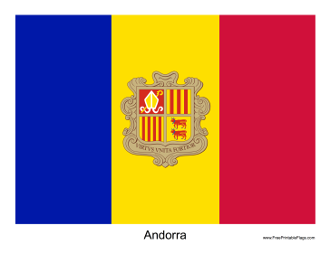 Andorra Free Printable Flag
