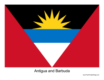 Antigua and Barbuda Free Printable Flag