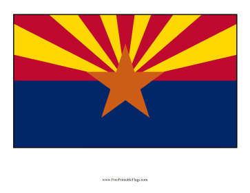 Arizona Free Printable Flag