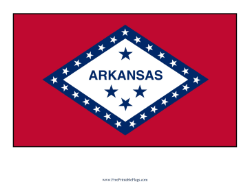 Arkansas Free Printable Flag