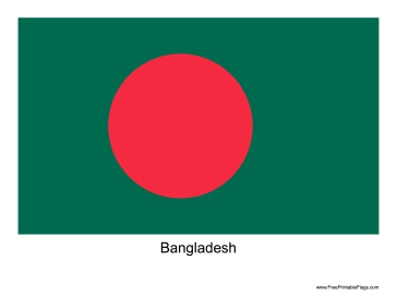 Bangladesh Free Printable Flag