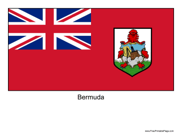 Bermuda Free Printable Flag