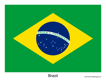 picture regarding Brazil Flag Printable identified as Flag of Brazil
