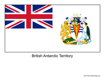British Antarctic Territory Free Printable Flag