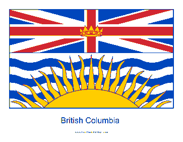 British Columbia Free Printable Flag