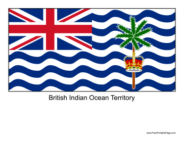 British Indian Ocean Territory Free Printable Flag