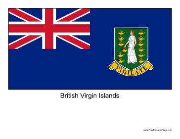 British Virgin Islands Free Printable Flag