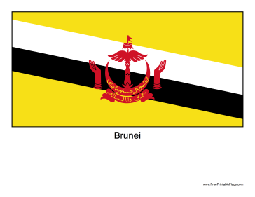 Brunei Free Printable Flag