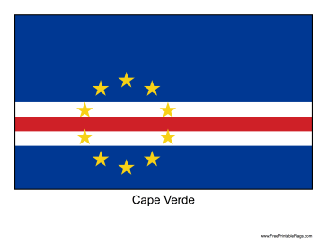 Cape Verde Free Printable Flag