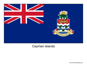 Cayman Islands Free Printable Flag