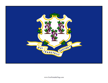 Connecticut Free Printable Flag