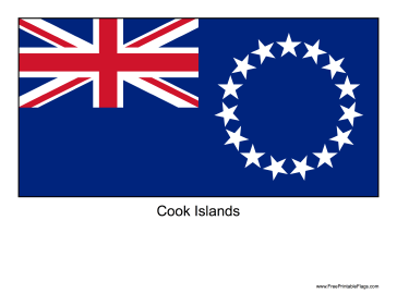 Cook Islands Free Printable Flag