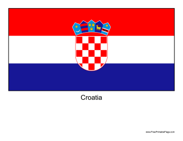 Croatia Free Printable Flag