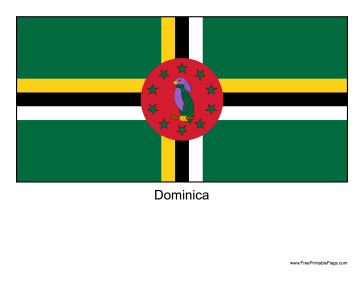 Dominica Free Printable Flag