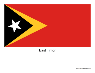 East Timor Free Printable Flag
