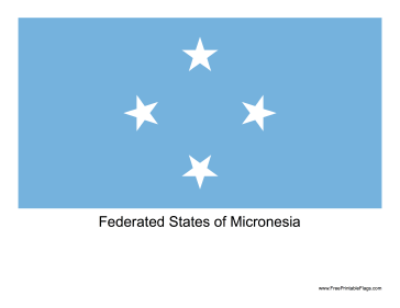 Federated States of Micronesia Free Printable Flag