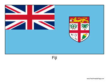 Fiji Free Printable Flag