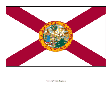 Florida Free Printable Flag