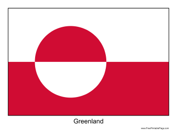 Greenland Free Printable Flag