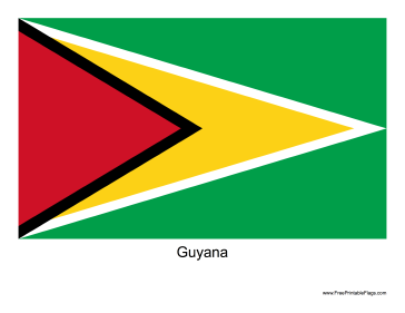 Guyana Free Printable Flag