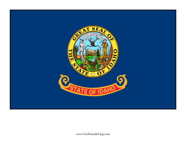 Idaho Free Printable Flag
