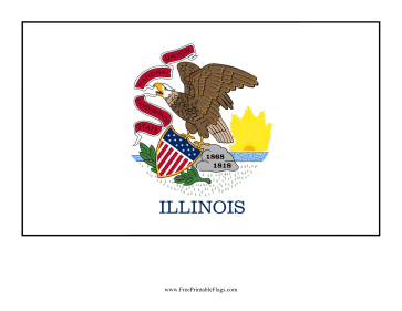 Illinois Free Printable Flag