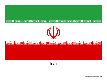 Iran Free Printable Flag