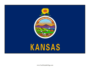 Kansas Free Printable Flag