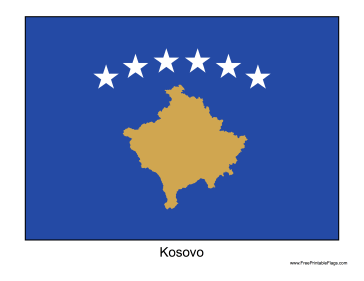 Kosovo Free Printable Flag