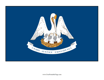 Louisiana Free Printable Flag