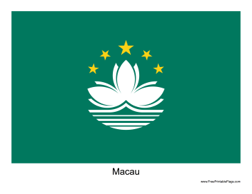 Macau Free Printable Flag