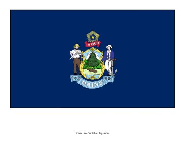 Maine Free Printable Flag