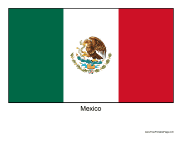 Mexico Free Printable Flag