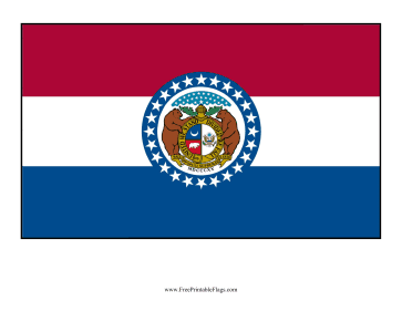 Missouri Free Printable Flag