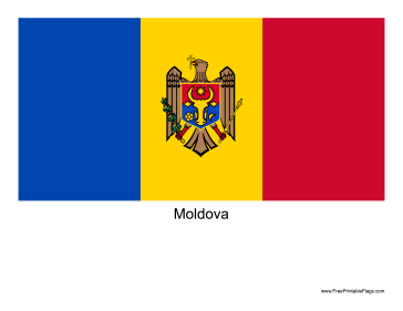 Moldova Free Printable Flag