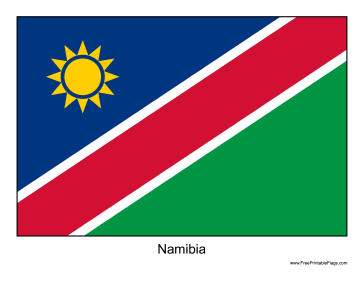 Namibia Free Printable Flag