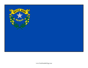 Nevada Free Printable Flag