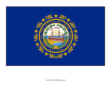 New Hampshire Free Printable Flag