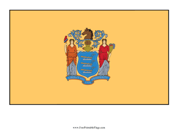 New Jersey Free Printable Flag