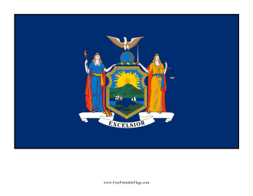 New York Free Printable Flag