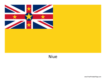Niue Free Printable Flag