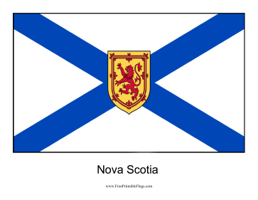 Nova Scotia Free Printable Flag