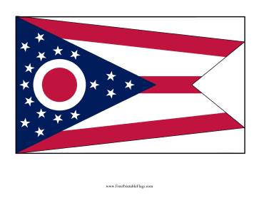 Ohio Free Printable Flag