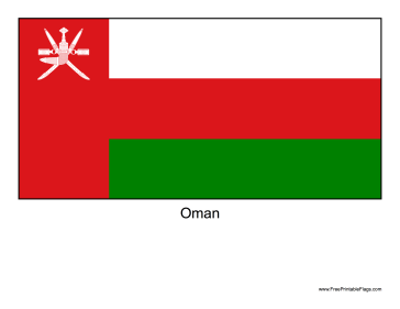 Oman Free Printable Flag