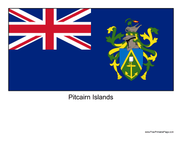 Pitcairn Islands Free Printable Flag