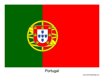 Portugal Free Printable Flag