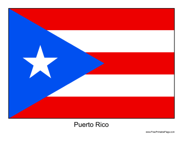 image relating to Printable Flags named Flag of Puerto Rico