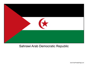 Sahrawi Arab Democratic Republic Free Printable Flag