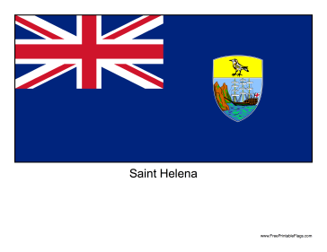 Saint Helena Free Printable Flag