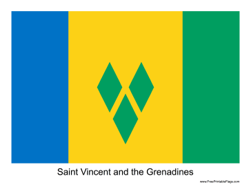 Saint Vincent and the Grenadines Free Printable Flag